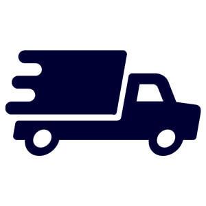 camion en livraison bleu marine